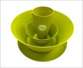 竹纖維圓形系列餐具套裝 (1套4件)  (青綠 / 黃色)