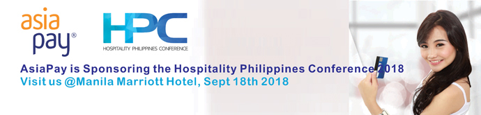 18 September 2018, AsiaPay Sponsors the Hospitality Philippines Conference 2018, Visit us at Manila Marriott Hotel