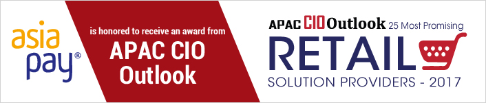 AsiaPay is honored to receive an award of 25 Most Promising Retail Solution Provider 2017 by APAC CIO Outlook