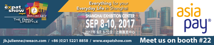 8-10 Sep 2017, Shanghai Exhibition Center, Expat Show Shanghai - AsiaPay Booth No. 22