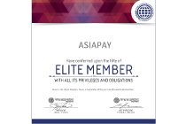 AsiaPay conferred upon the title of Elite Member of World Confederation of Businesses.