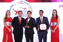 AsiaPay received the recognition of Inspirational Company at the BIZZ Awards 2017 by WORLDCOB in Dubai.
