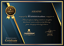 AsiaPay has been awarded as - 10 Fastest Growing Retail Technology Solution Providers to Watch - by APAC Business Headlines
