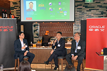 AsiaPay Senior IT Manager Issac Leung joins the panel discussion at the Oracle Innovation Insight Cocktail Reception for FSI Industry in Hong Kong
