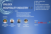 AsiaPay attend the 2019 Unlock Hospitality Industry 4.0 in Bali, Indonesia.