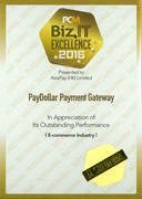 PayDollar won the Biz.IT Excellence 2016 Award