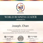 The CEO of AsiaPay, Mr. Joseph Chan received the WORLD BUSINESS LEADER award.