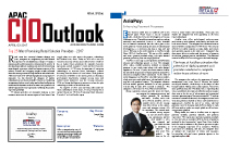 AsiaPay named one of the 25 Most Promising Retail Solution Provider 2017  by APAC CIO Outlook, Joseph Chan
